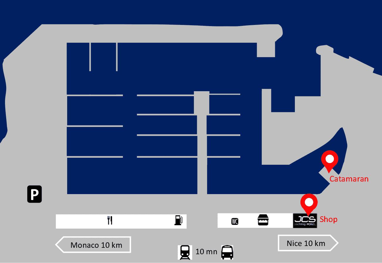 SeaZen est accessible facilement depuis Nice et Monaco par voiture, train et bus